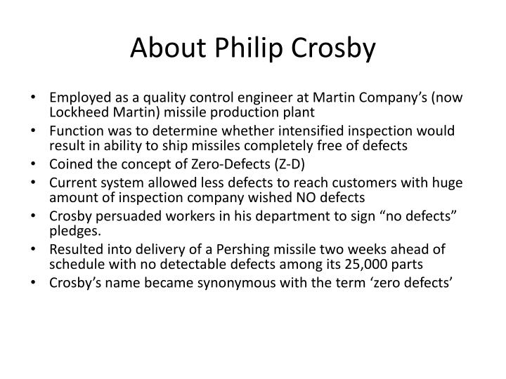 About Philip Crosby
