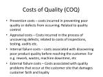costs of quality coq