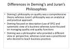 differences in deming s and juran s philosophies