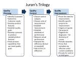 juran s trilogy
