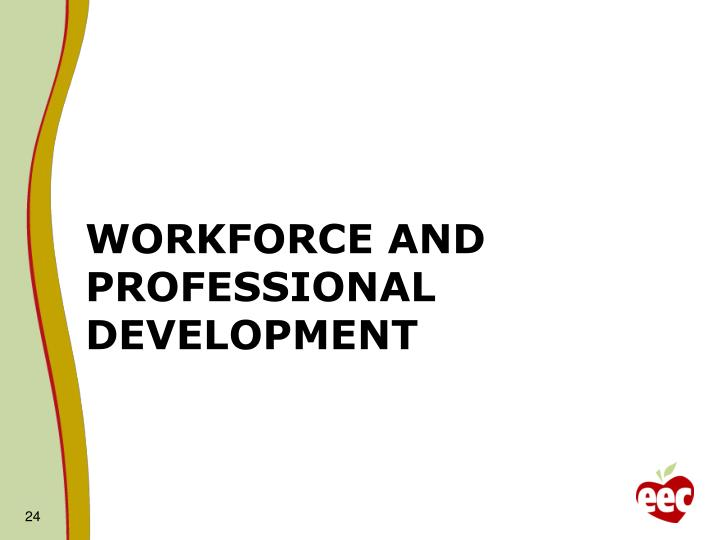 Workforce and Professional Development