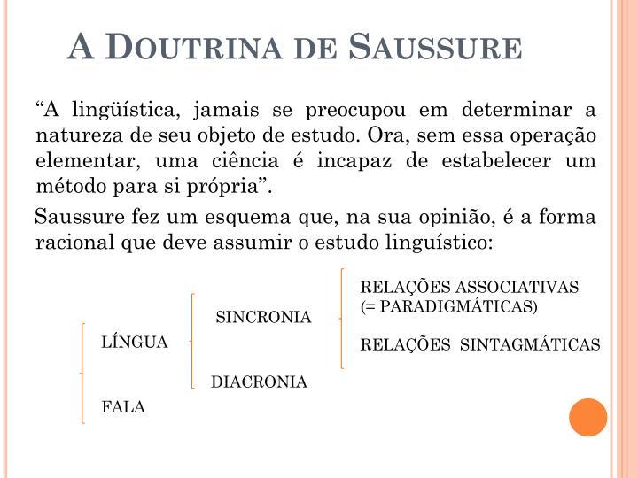 A Doutrina de Saussure