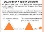 uma cr tica teoria do signo