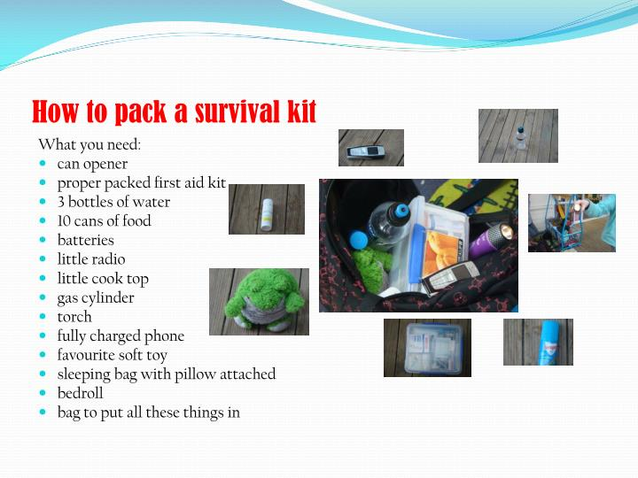 How to pack a survival kit