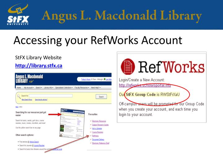 Accessing your RefWorks Account
