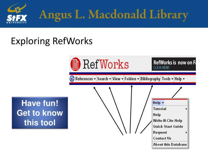 Exploring RefWorks