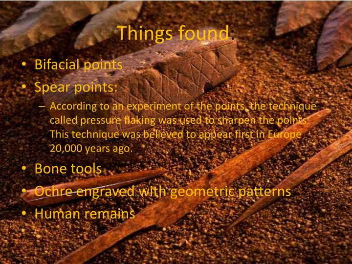 Things found