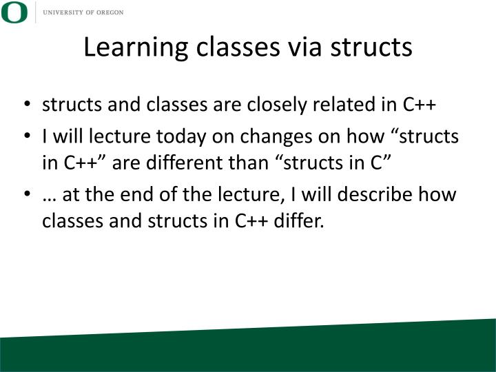 Learning classes via