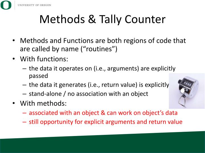 Methods & Tally Counter