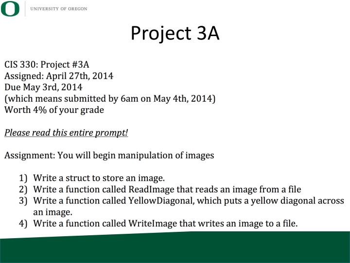 Project 3A