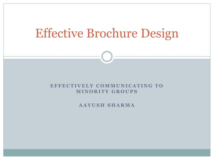 Ppt effective brochure design powerpoint presentation for Successful brochure design