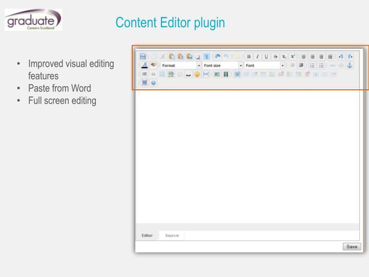 Content Editor plugin