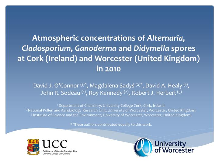 Atmospheric concentrations of