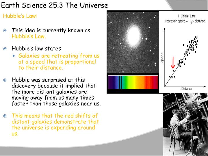 Earth Science 25.3 The Universe