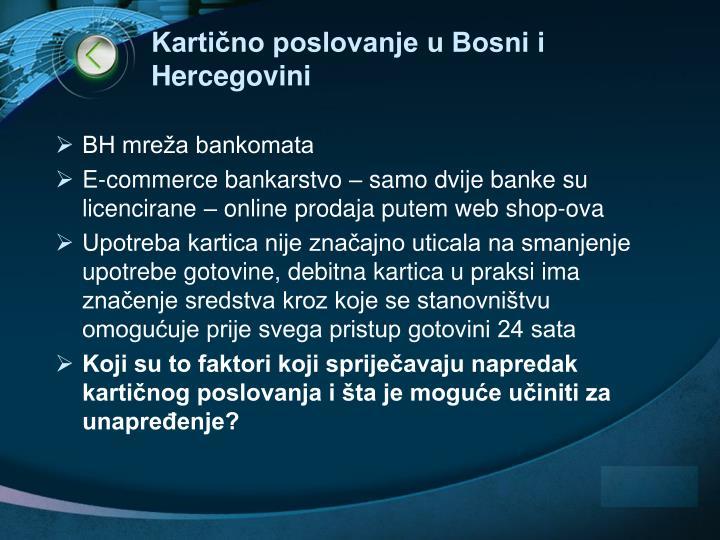 Kartično poslovanje u Bosni i Hercegovini