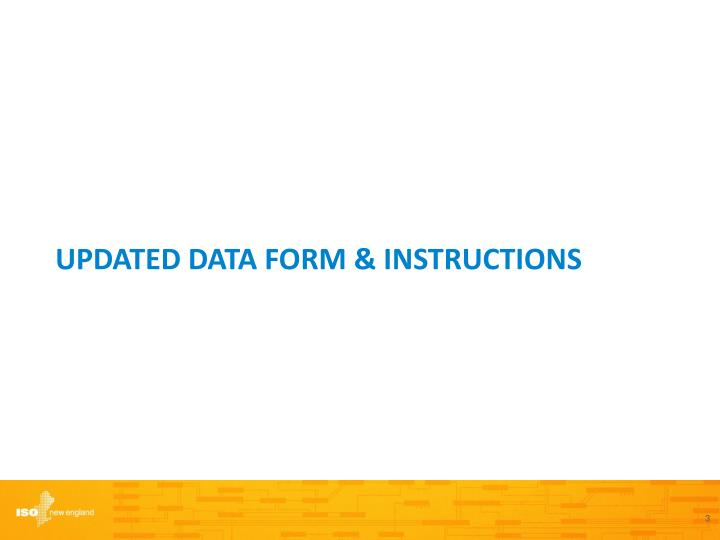 Updated Data Form & Instructions