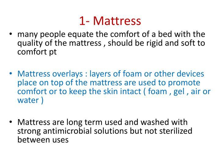 1- Mattress