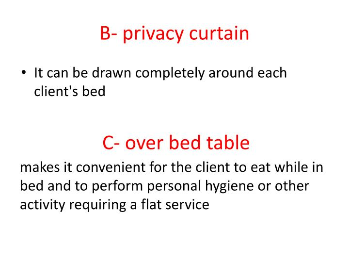 B- privacy curtain