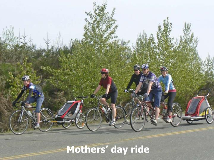 Mothers' day ride