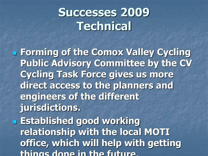Successes 2009