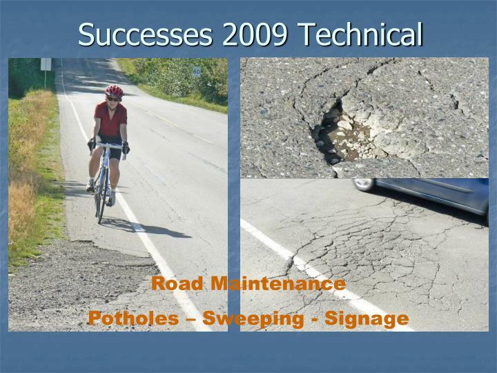 Successes 2009 Technical