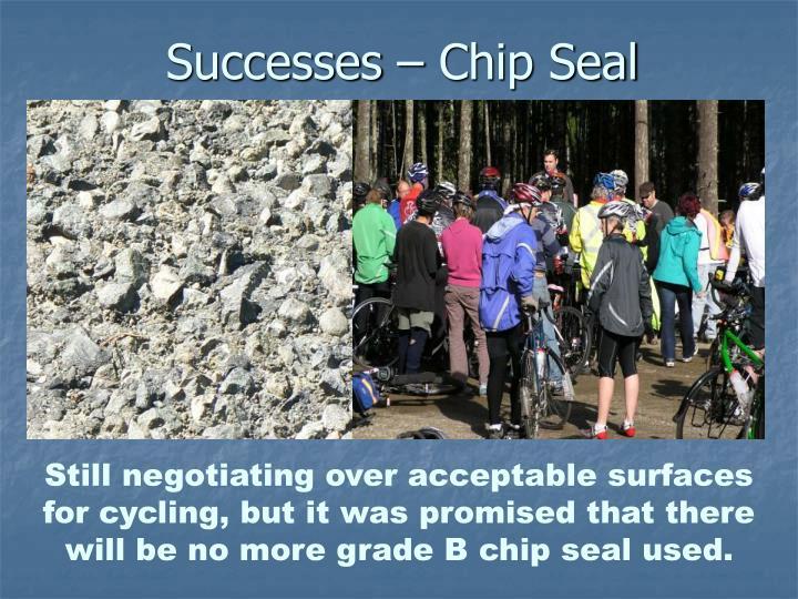 Successes – Chip Seal