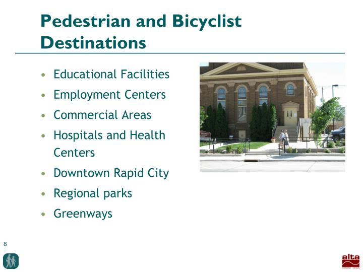 Pedestrian and Bicyclist Destinations
