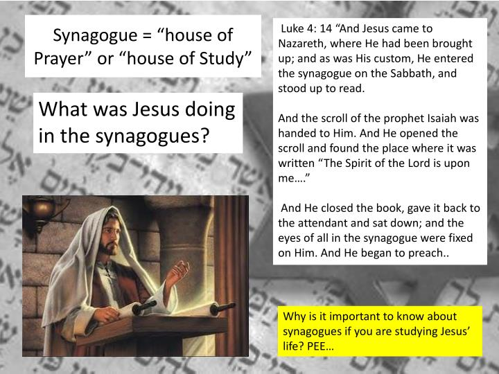 "Synagogue = ""house of Prayer"" or ""house of Study"""