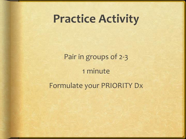 Practice Activity