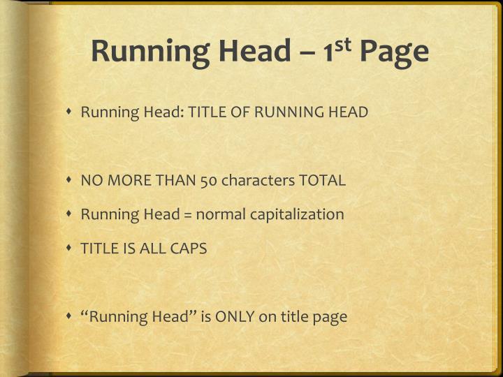Running Head – 1