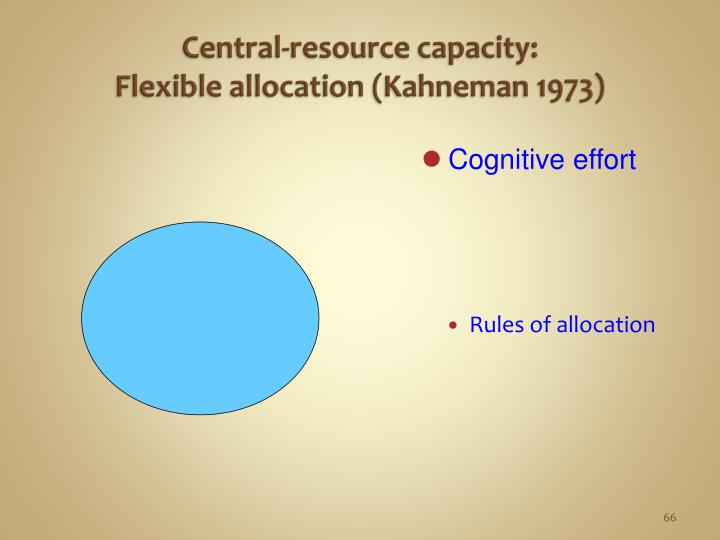 Central-resource capacity: