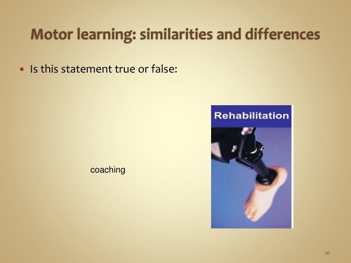 Motor learning: s