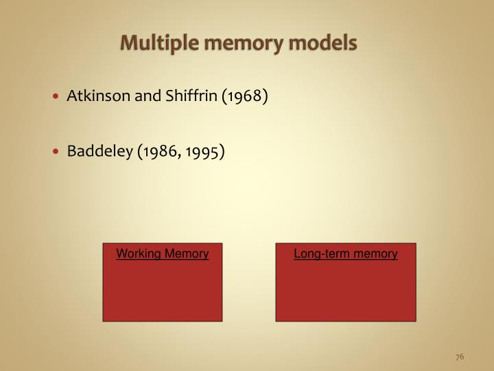 Multiple memory models