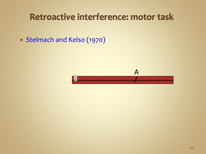 Retroactive interference: motor task