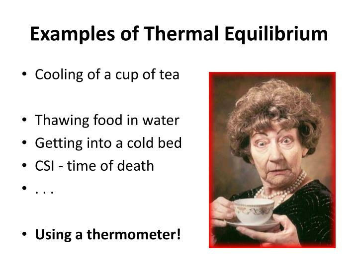 Examples of Thermal Equilibrium