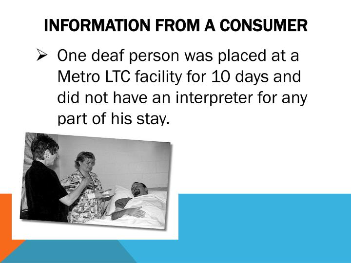 Information from A Consumer
