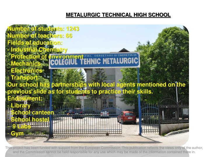 METALURGIC TECHNICAL HIGH SCHOOL