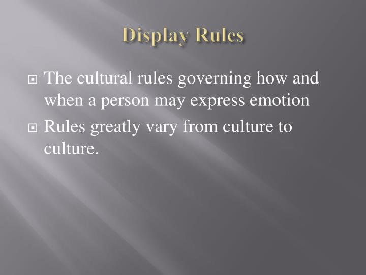 Display Rules