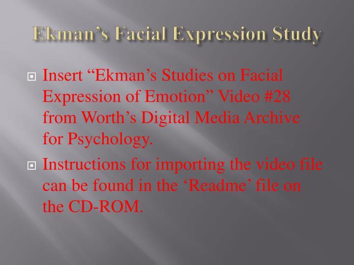 Ekman's Facial Expression Study