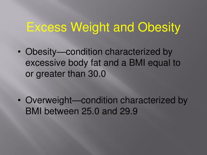 Excess Weight and Obesity