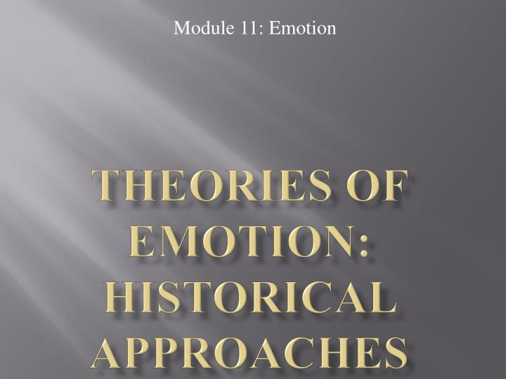 Theories of Emotion: Historical Approaches