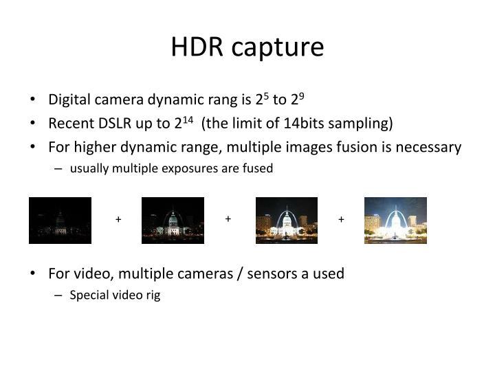 HDR capture