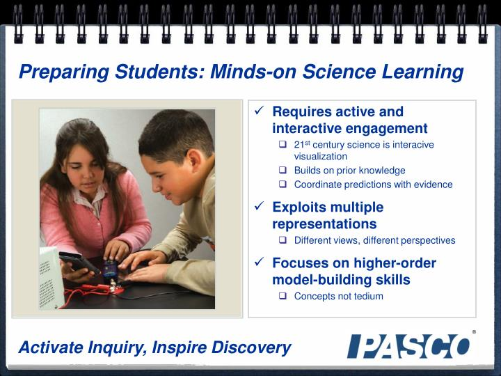 Preparing Students: Minds-on Science Learning