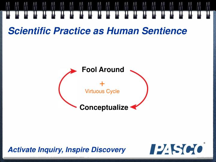 Scientific Practice as Human Sentience