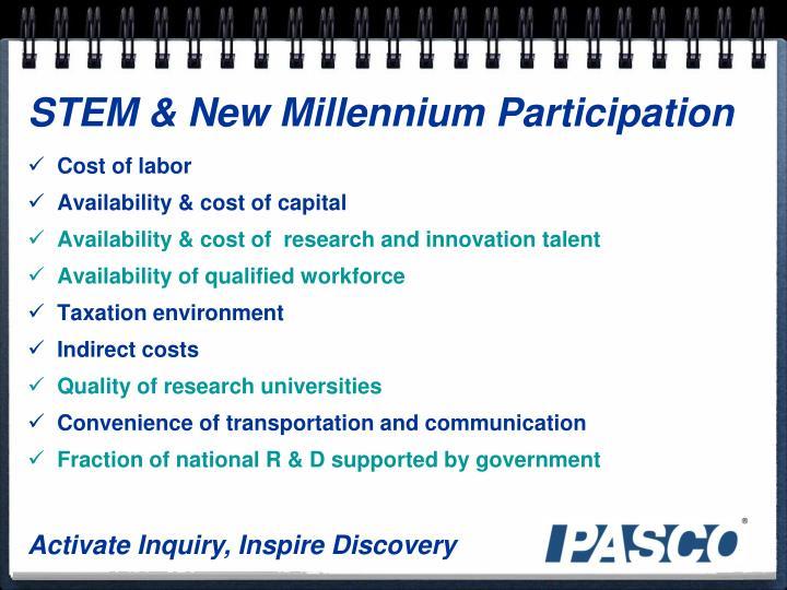 STEM & New Millennium Participation