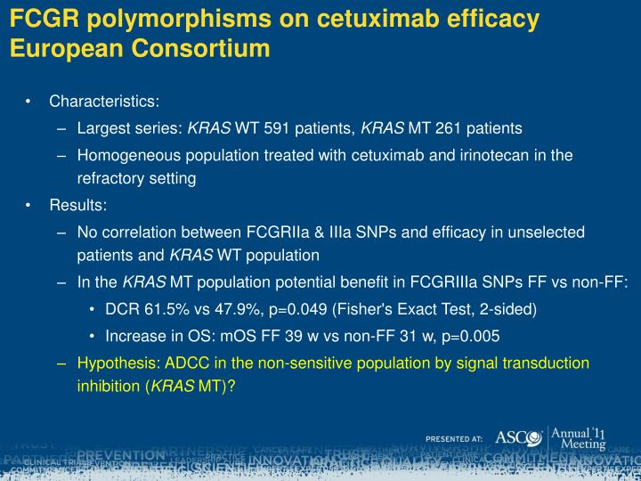 FCGR polymorphisms on
