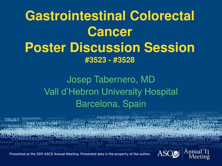 Gastrointestinal colorectal cancer poster discussion session 3523 3528