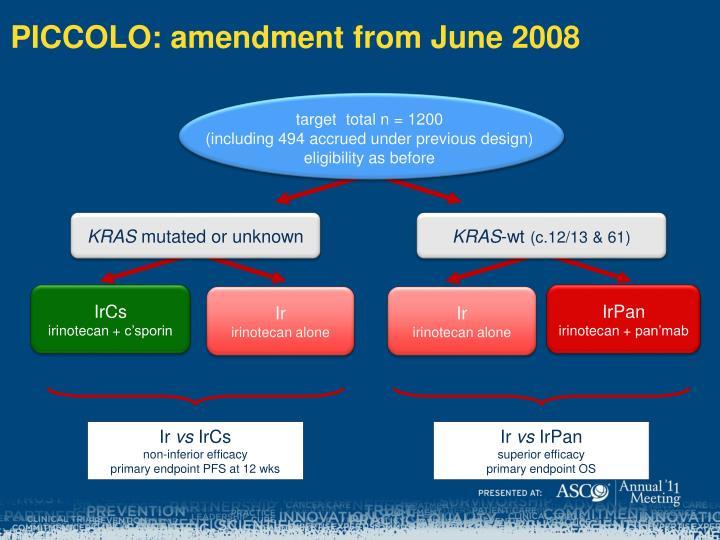PICCOLO: amendment from June 2008