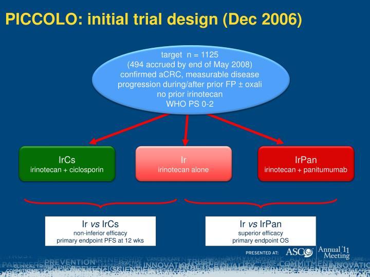 PICCOLO: initial trial design (Dec 2006)