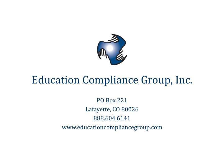 Education Compliance Group, Inc.